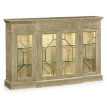 Opera 4-door breakfront display cabinet with brass