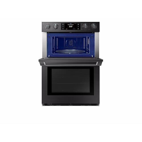 "Samsung NQ70M9770DM     30"" Flex Duo™ Chef Collection Microwave Combination Wall Oven in Matte Black Stainless Steel"