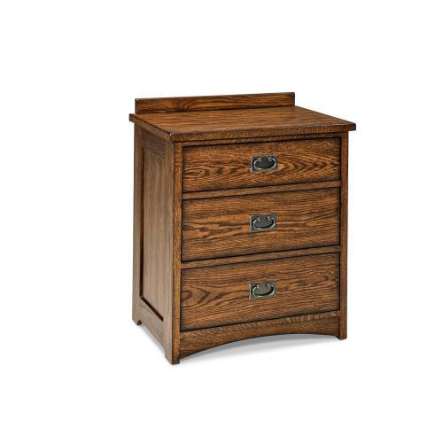 Oak Park 3 Drawer Nightstand