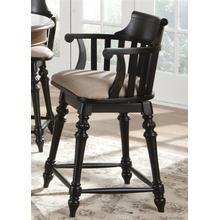 30 Inch Swivel Counter Chair - Black