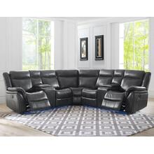 "Levin Power Left Arm Loveseat LED Strip Gray 68""x36""x40"""