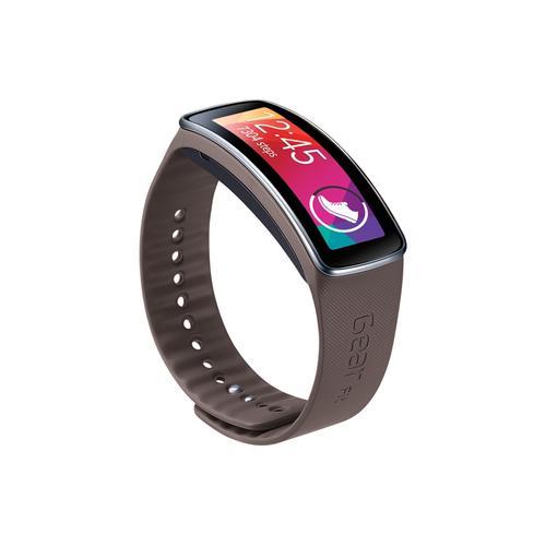 Samsung - Gear Fit Band Mocha Gray