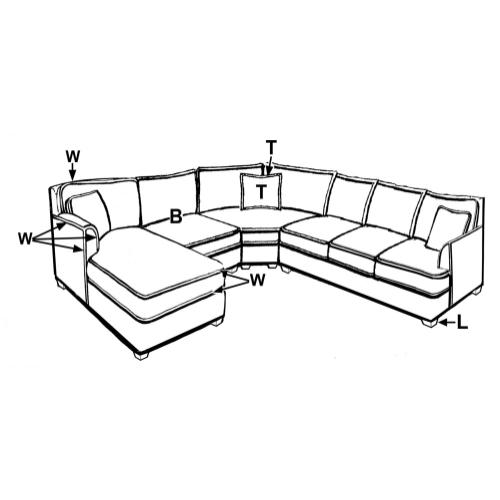 209 SECTIONAL PIECES
