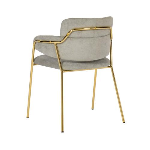 Karl Grey Velvet Chair (set of 2)