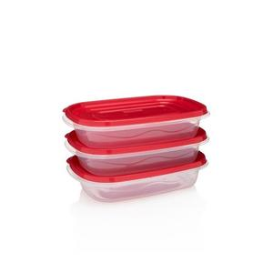 Frigidaire 3-Pack 32oz Plastic Rectangular Storage Container