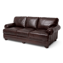 Newbury Leather StandardSofa in Chocolate Espresso