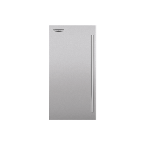 """Ice Maker 15"""" Stainless Door Panel with Tubular Handle"""