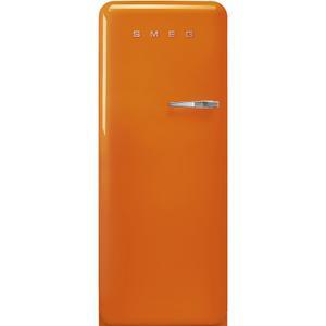 """Smeg24"""" retro-style fridge, Orange, Left-hand hinge"""