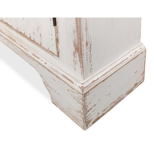 Pierced Doors Wall Commode, Broken White