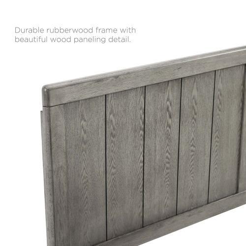 Robbie Queen Wood Headboard in Gray