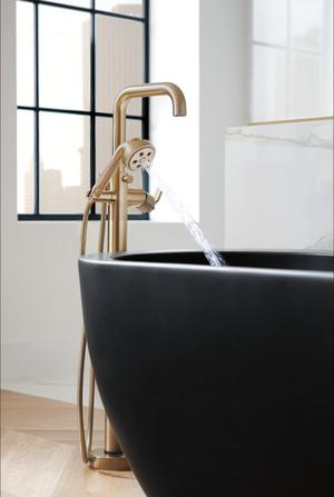 Single-handle Floor Mount Tub Filler - Less Handle Product Image