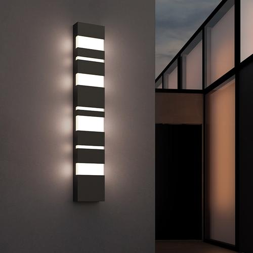 """Sonneman - A Way of Light - Jazz Notes LED Sconce [Size=21"""", Color/Finish=Textured Gray]"""