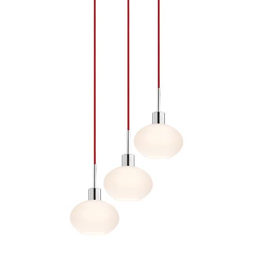 Glass Pendants Demi Oval 3-Light Pendant