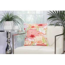 """Outdoor Pillows L3163 White 18"""" X 18"""" Throw Pillow"""