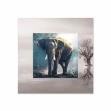 See Details - Elephant With Background Miniature Fine Wall Art