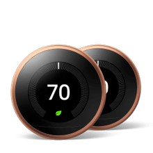 Nest Learning Thermostat 3rd Gen Copper 2 Pack