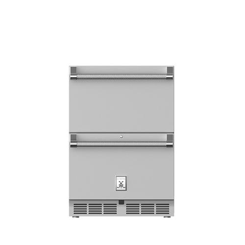 "Hestan - 24"" Hestan Outdoor Refrigerator Drawers - GRR Series - Prince"