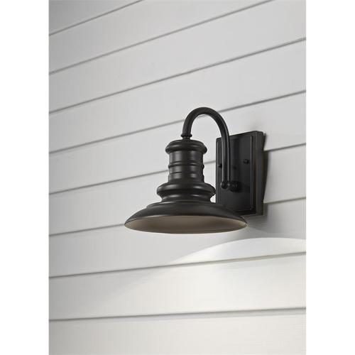Redding Station Small Lantern Textured Black