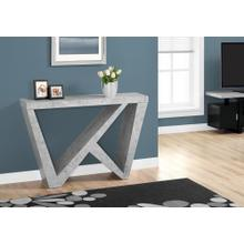 """ACCENT TABLE - 48""""L / CEMENT-LOOK HALL CONSOLE"""