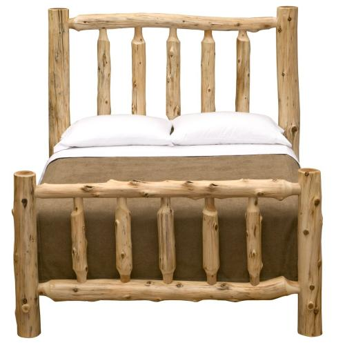 Traditional Bed - Queen - Natural Cedar