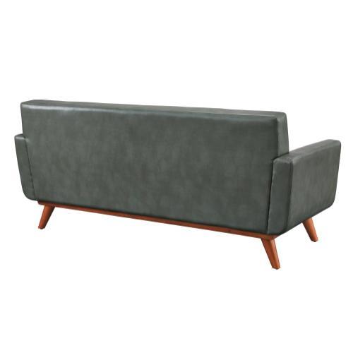 Tov Furniture - Lyon Smoke Grey Leather Loveseat