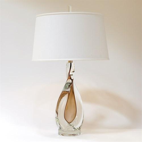 Amber Twist Lamp