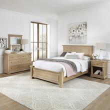 Manor House Queen Bed, Nightstand and Dresser With Mirror