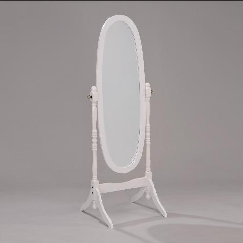 Cheval Mirror White