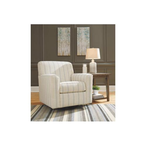 Alandari Swivel Glider Accent Chair Gray