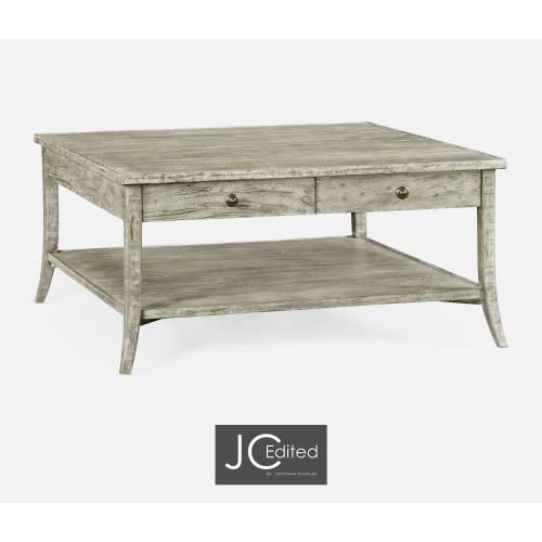 Square Coffee Table in Rustic Grey