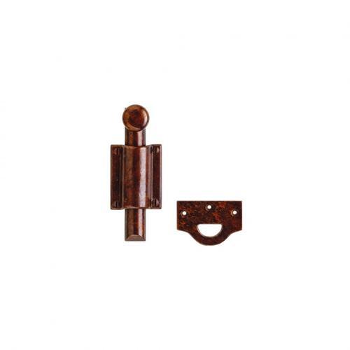 Rocky Mountain Hardware - Dutch Door Bolt, Rectangular Mounting Brackets - DDB7 White Bronze Dark