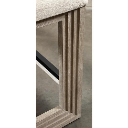 Cascade - Upholstered Counter Height Bench - Dovetail Finish