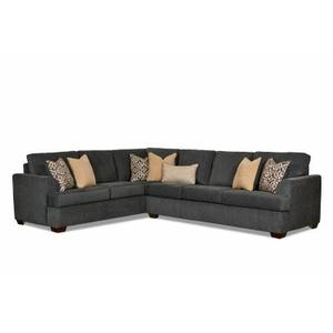 Wood House Upholstery - Atwood Left Corner Sofa in Dalton Charcoal