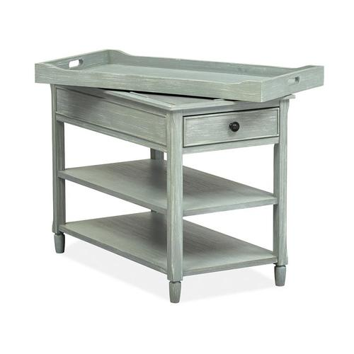Chairside End Table - Blue