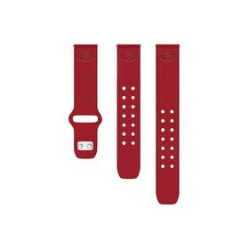 San Francisco 49ers Debossed Silicone Watch Band (22mm) Crimson Red
