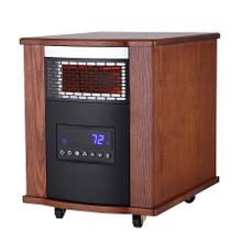 TW1500UV Modern Oak Infrared Heater w/ Ultraviolet Air Purification