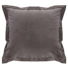 Whistler Gray Velvet Accent Pillow W/ Flange