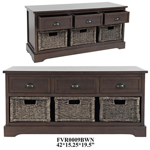 """Crestview Collections - 42X15.25X19.5"""" ACCENT STORAGE BENCH,1PC PK/9.4'"""