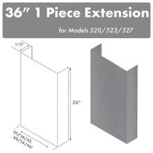 """See Details - ZLINE 36"""" Chimney for 60"""" Under Cabinet Hoods (520/523/527-60-3FTEXT)"""