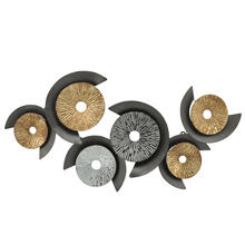 """See Details - Metal Wall Decor Discs, 40"""", Multi, Wb"""