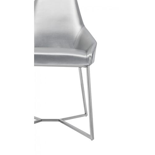 Modrest Sarah Modern Pearl Grey Leatherette Dining Chair (Set of 2)