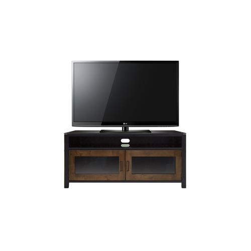 Product Image - No Tools Assembly Cocoa/Matte Black Finish Wood A/V Cabinet