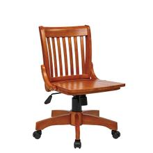 View Product - Deluxe Armless Wood Bankers Chair
