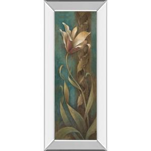"""""""Turquoise Flower I"""" Mirror Framed Print Wall Art"""