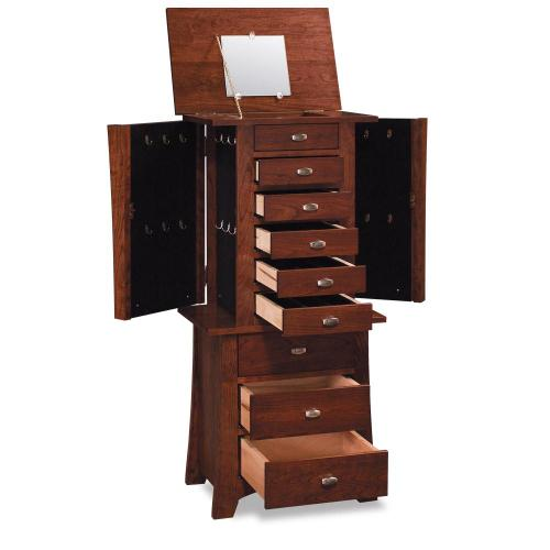 Simply Amish - Loft Jewelry Armoire