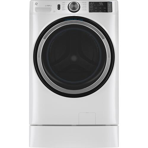 GE Appliances - GE® 4.8 cu. ft. Capacity Smart Front Load ENERGY STAR® Washer with UltraFresh Vent System with OdorBlock™ and Sanitize w/Oxi