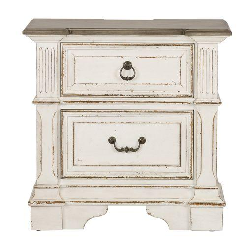 Liberty Furniture Industries - 2 Drawer Night Stand w/ Charging Station