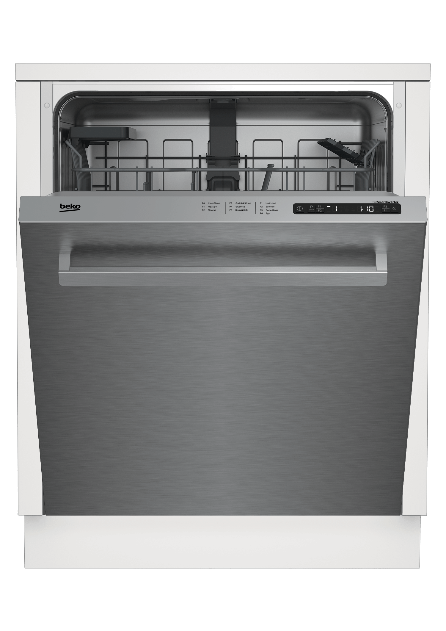 Full Size Stainless Dishwasher, 14 place settings, 48 dBa, Top Control