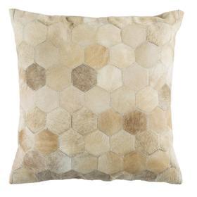 Parker Cowhide Pillow - Beige