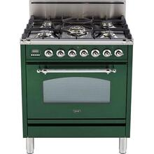 "30"" Nostalgie Series Freestanding Single Oven Gas Range with 5 Sealed Burners in Emerald Green"